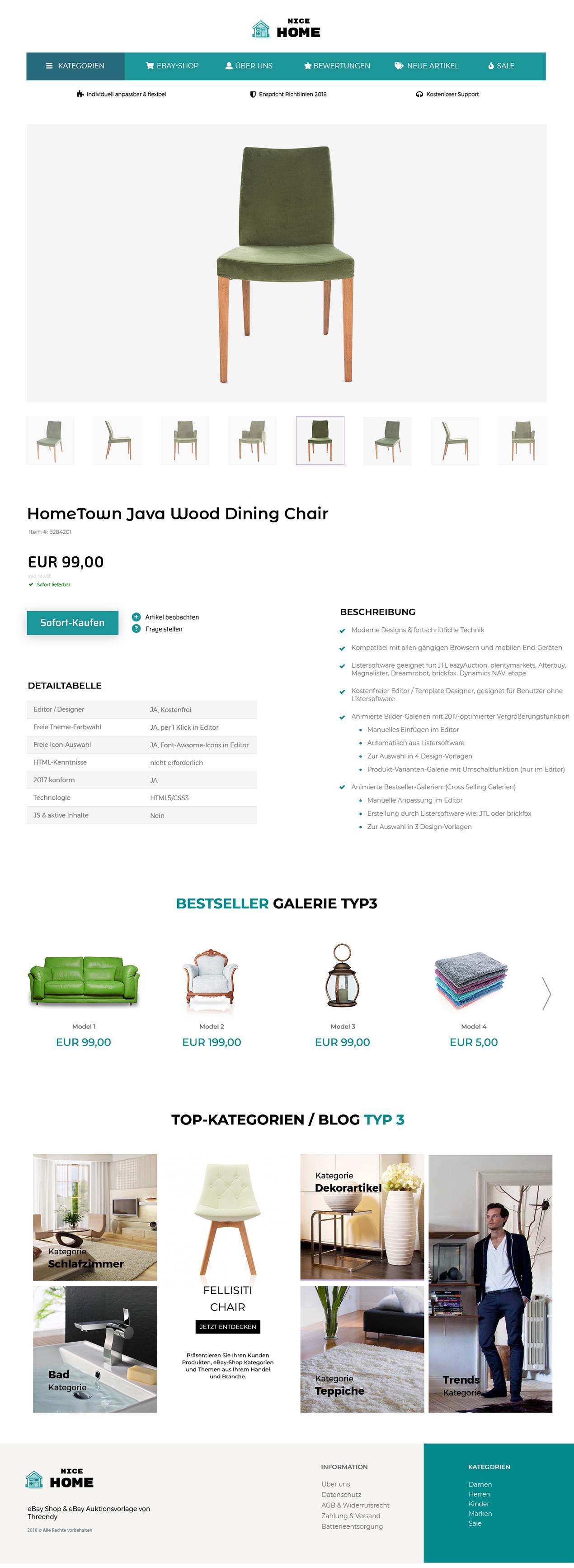 JTL eazyAuction UNIQUE eBayVorlage 2018 Mobile Design ...