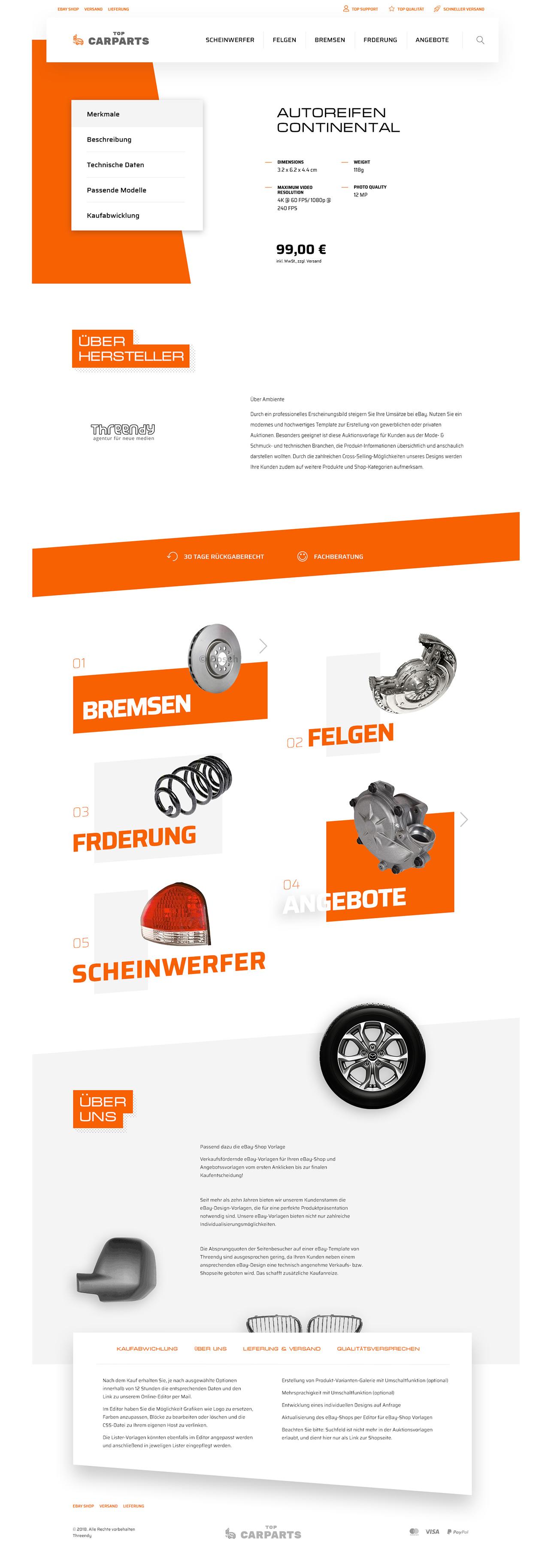 eBayvorlage für Autoteile, KFZ, Motorrad Ersatzteile Auktionsvorlage ...