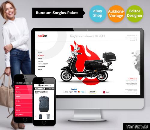 ebay Vorlagen design als komplettpaket